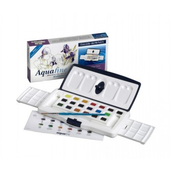 Daler Rowney Aquafine Watercolour 20 Half Pan Slider Set