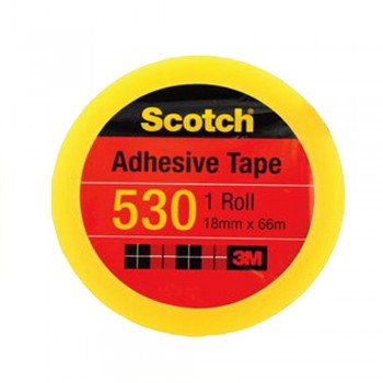 "3M Scotch 530 Tape 18mmx66m (3"" core)"