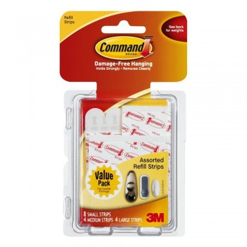 3M 17200 Replacement Adhesive Strips (8S,4M,4L)