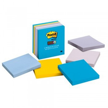 "3M 654-5SSNY Post-It 3""x 3"" Super Sticky Notes - NewYork 2"