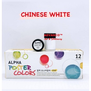 ALPHA POSTER COLOUR 15ML 101 CHINESE WHITE