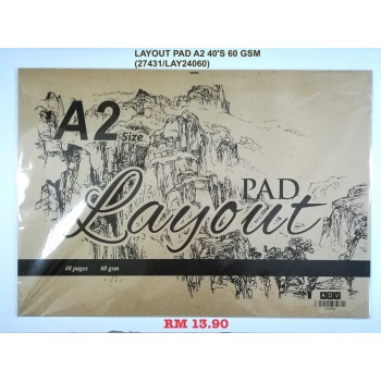 A2 ADV LAYOUT PAD 60GSM/40'S