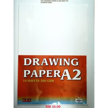 A2 ADV DRAWING PAPER 200GSM/10'S