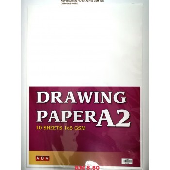 A2 ADV DRAWING PAPER 165GSM/10'S