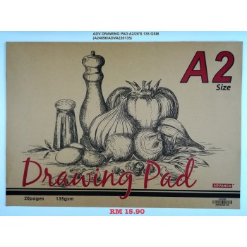 A2 ADV DRAWING PAD 135GSM/20'S
