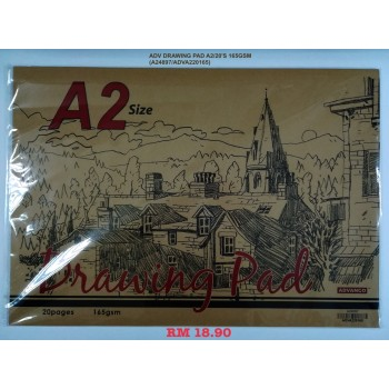 A2 ADV DRAWING PAD 165GSM/20'S