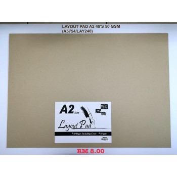 A2 ADV LAYOUT PAD 50GSM/40'S