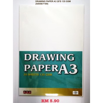 A3 ADV DRAWING PAPER 135GSM/20'S