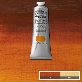 W&N ARTIST ACRYLIC COL 60ML S4-547 QUINACRIDONE GOLD