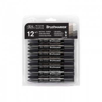 BRUSHMARKER SET 12 GREYS