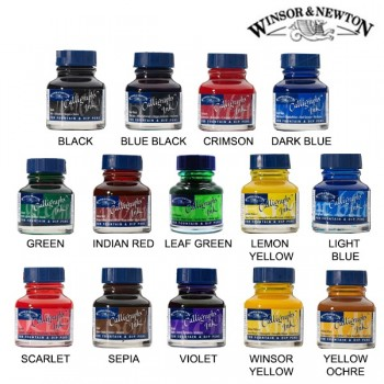 W&N CALLIGRAPHY INK 30ML S1 DARK BLUE