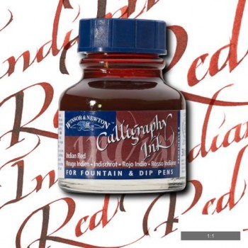 W&N CALLIGRAPHY INK 30ML S1 INDIAN RED