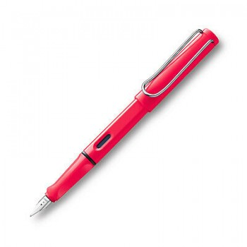 LAMY 041M SAFARI NEON CORAL FOUNTAIN PEN WITH M NIB
