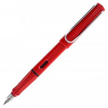 LAMY 016B SAFARI RED FOUNTAIN PEN WITH B NIB