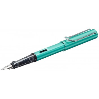LAMY 032M AL-STAR BLUE GREEN FOUNTAIN PEN WITH M NIB