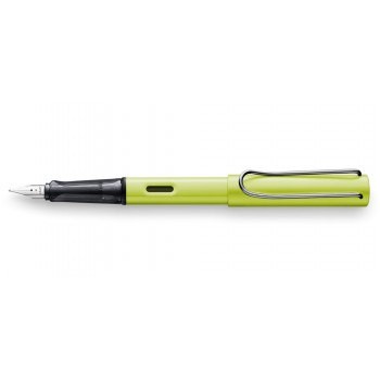 LAMY 052M AL-STAR CHARGED GREEN FOUNTAIN PEN WITH M NIB