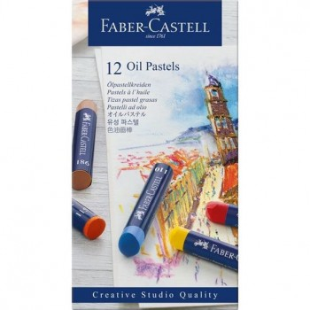 FABER CASTELL  127012 OIL PASTEL STUDIO QUALITY SET OF 12 COLOR