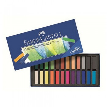 FABER CASTELL 128224 MINI SOFT PASTEL SET OF 24 COLOR