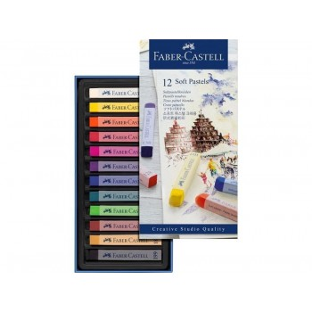 FABER CASTELL 128312 CREATIVE STUDIO SOFT PASTEL SET OF 12 COLOR