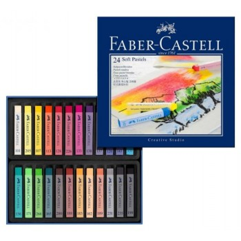 FABER CASTELL 128324 CREATIVE STUDIO SOFT PASTEL SET OF 24 COLOR
