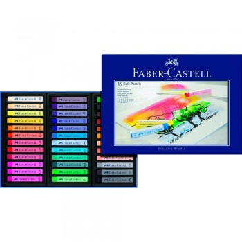 FABER CASTELL  128336 CREATIVE STUDIO SOFT PASTEL SET OF 36 COLOR