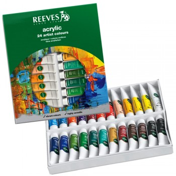 REEVES ACRYLIC COLOUR 24COL 10ML