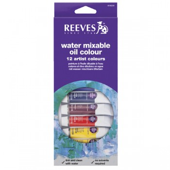 REEVES WATER COLOUR 12COL 10ML 8490250