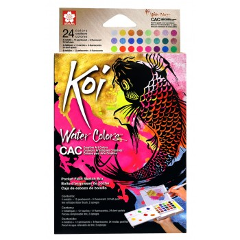 SAKURA KOI WATER COLOR CREATIVE ART SET 24 COLOUR