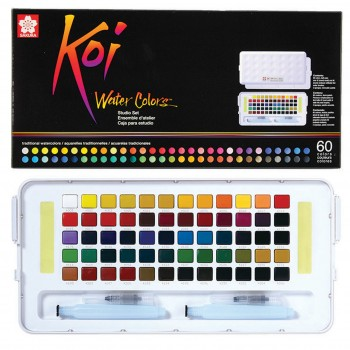 SAKURA KOI WATER COLOR STUDIO SET 60 COLOUR