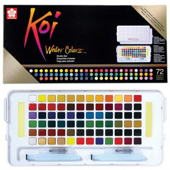 SAKURA KOI WATER COLOR STUDIO SET 72 COLOUR