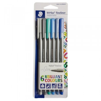 STAEDTLER TRIPLUS FINELINER OCEANA SET OF 6 PCS