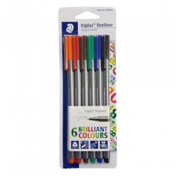 STAEDTLER TRIPLUS FINELINER PRIMERA SET OF 6PCS