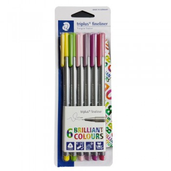 STAEDTLER TRIPLUS FINELINER FLORIA SET OF 6 PCS