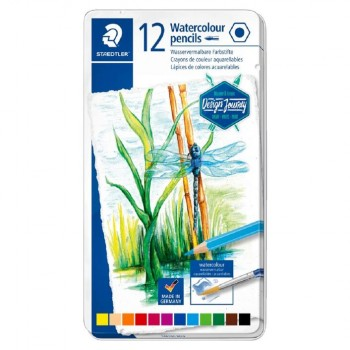 STAEDTLER COLOURED PENCIL AQUA 12 COLOUR