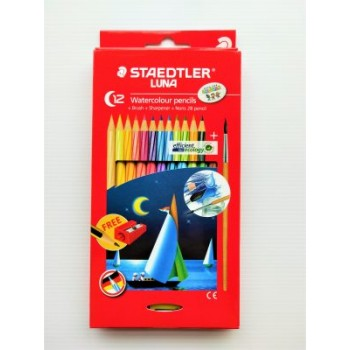 STAEDTLER WATER COLOR PENCIL LUNA SET 12 COLOUR