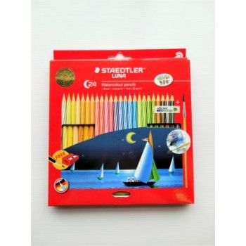 STAEDTLER WATER COLOR PENCIL LUNA SET 24 COLOUR