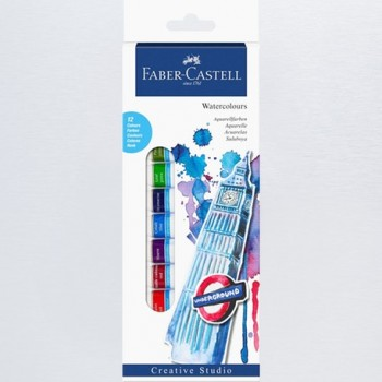 FABER CASTELL 169503 STARTER SET WATER COLOUR BOX OF 12
