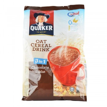 Quaker Oat Cereal Drink 3in1 Chocolate ( Item no: E03-21 )