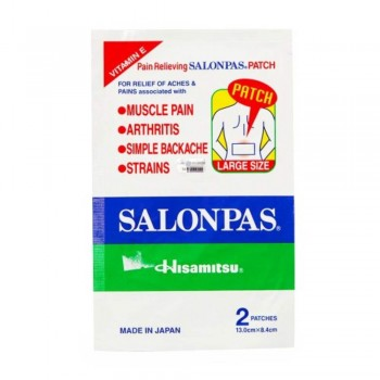 Salonpas Medicated Plaster (Size L) - 2 Patches (Item No: E07-20) A3B134