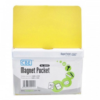 CBE Magnet Pocket 22215 A5-Yellow ( ITEM NO : B10 186Y )