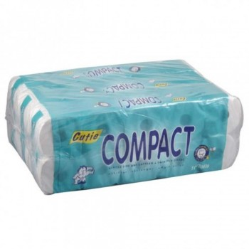 Cutie Compact Twin Ply Tissue Roll - 3 x 30 Rolls