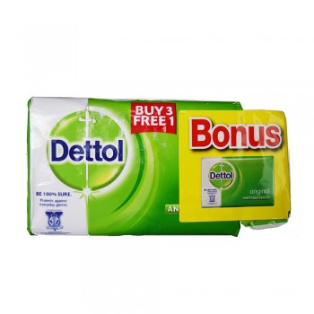 Dettol Body Soap Original 105g x 3+1+65g (Free)