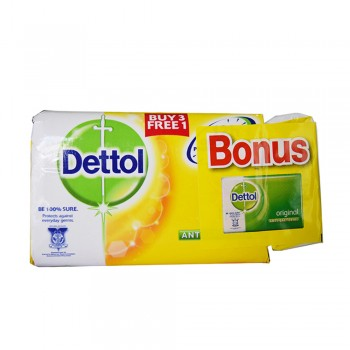 Dettol Body Soap Fresh 105g x 3+1+65g (Free)