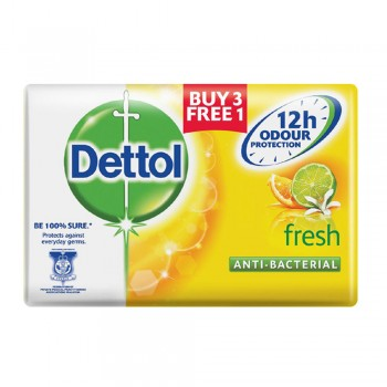 Dettol Body Soap Fresh 105g 3+1(free)