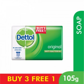 Dettol Body Soap Original 105g 3+1 (free)