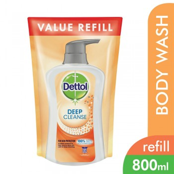 Dettol Deep Cleanse Shower Gel Refill pouch 800ml