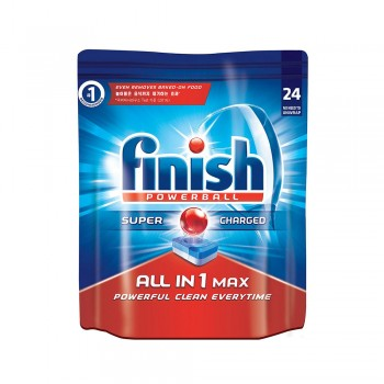 Finish All-in-one Max Power Ball Dishwasher Cleaning Tablets 24 pieces