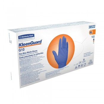 KLEENGUARD* G10 Flex Blue Nitrile Glove - XL,  10 boxes x 100pcs