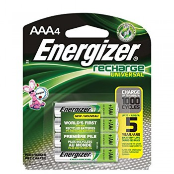 Energizer Universal NiMH AAA Rechargeable Batteries - 4-count - 700 mAh - 1000 Cycles (Item No: B06-14) A1R2B227
