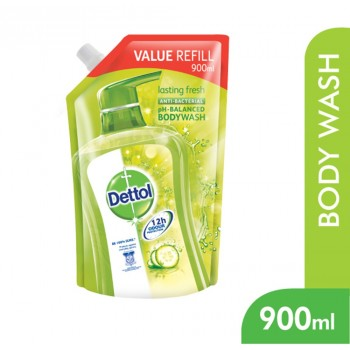 Dettol BodyWash Lasting Fresh 900ml Value Refill Pouch